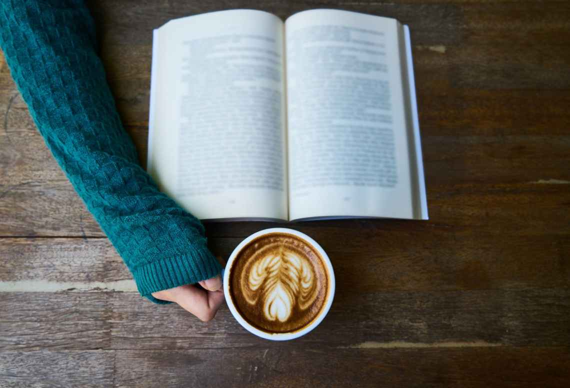 background beverage book breakfast